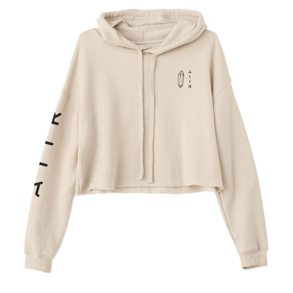 The Cloud Crop Hoodie by AIIR Professional in Heather Dust