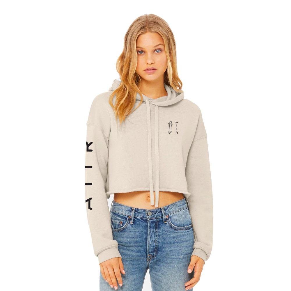 The Cloud Crop Hoodie Heather Dust