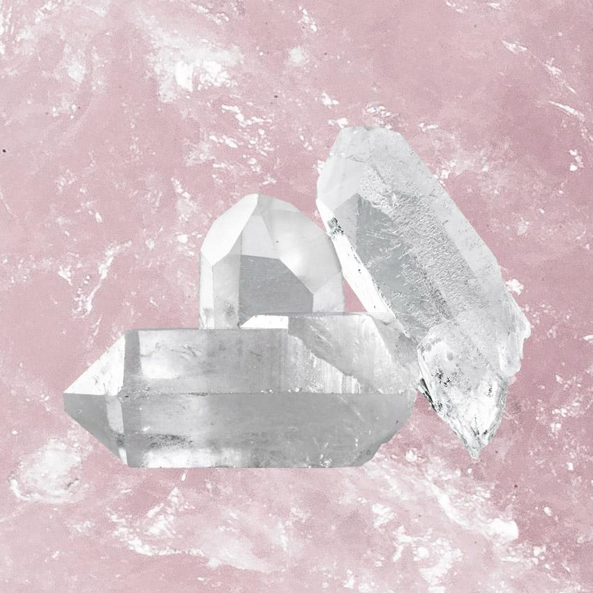 Crystal Quartz gemstone - increase energy, emotional healing, remove negativity, enhance awareness