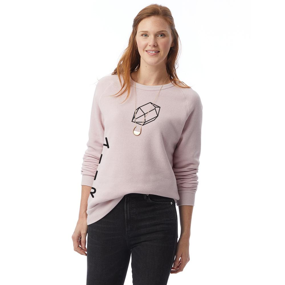 eco-fleece sweatshirt in pink