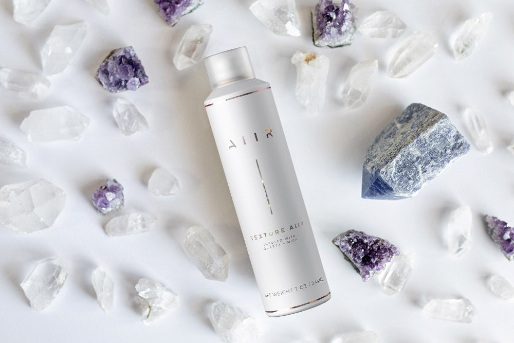 the first crystal infused dry texture spray