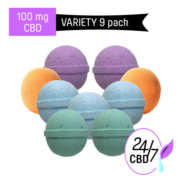 CBD Bath Bomb | 100mg | VARIETY PACK