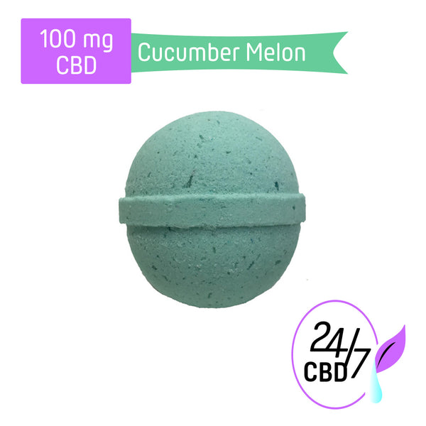 CBD Bath Bomb | 100mg | Cucumber Melon