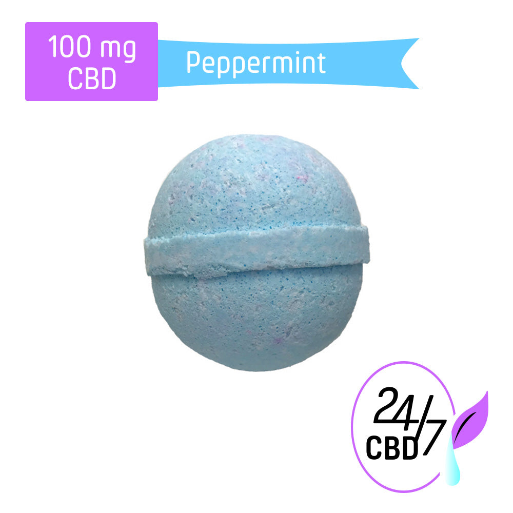 CBD Bath Bomb | 100mg | Peppermint