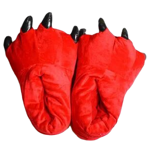 Chaussons Griffes Rouges