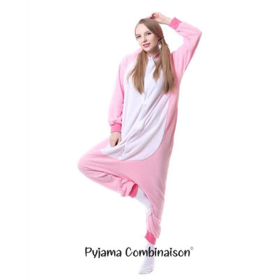 Pyjama licorne rose adulte