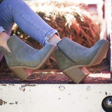 Shoesprit Women Trendy Fall Chunky Booties (Ship in 24 hours)
