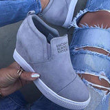Shoesprit Letter Slip On Wedge Sneakers