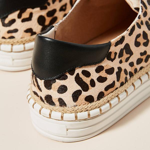 Shoesprit Leopard-Printed Slip-On Sneakers(ship in 24 hours)