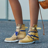 Shoesprit Buckle Casual Round Toe Chic Boots