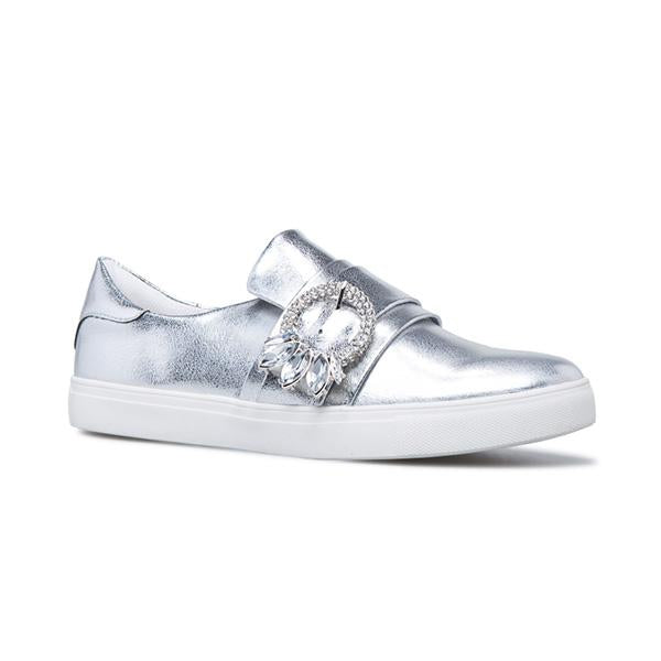 Shoesprit Fashion Stylish Everly Jeweled Buckle Sneakers