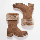 Shoesprit Suede Mid-Calf Snow Boots Women Warm Work Daily Casual Boots