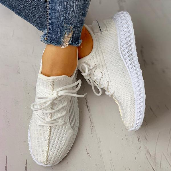 Shoesprit Lace-Up Breathable Casual Sneakers