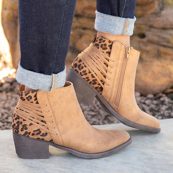 Shoesprit Fashion Stylish Like An Animal Zipper Booties