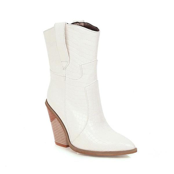 Shoesprit Womens Plus Size Block Heel Boots
