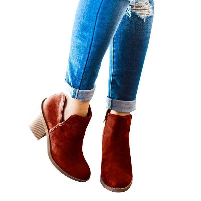 Chellysun 2018 New Stylish Suede Boots Boots Women - Chellysun