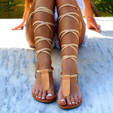 Shoesprit T-strap Ancient Greek Sandals(Ship In 24 Hours)