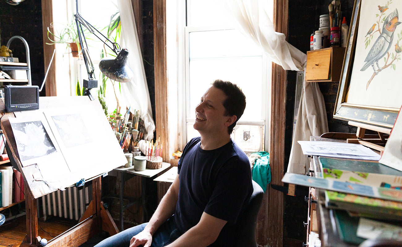 Inside Chris Buzelli's NYC Studio