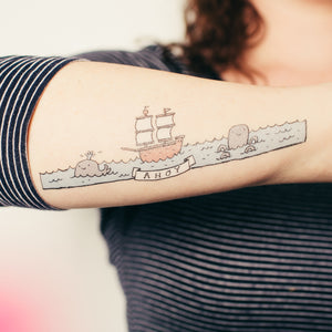 Ahoy by Mike Lowery from Tattly Temporary Tattoos
