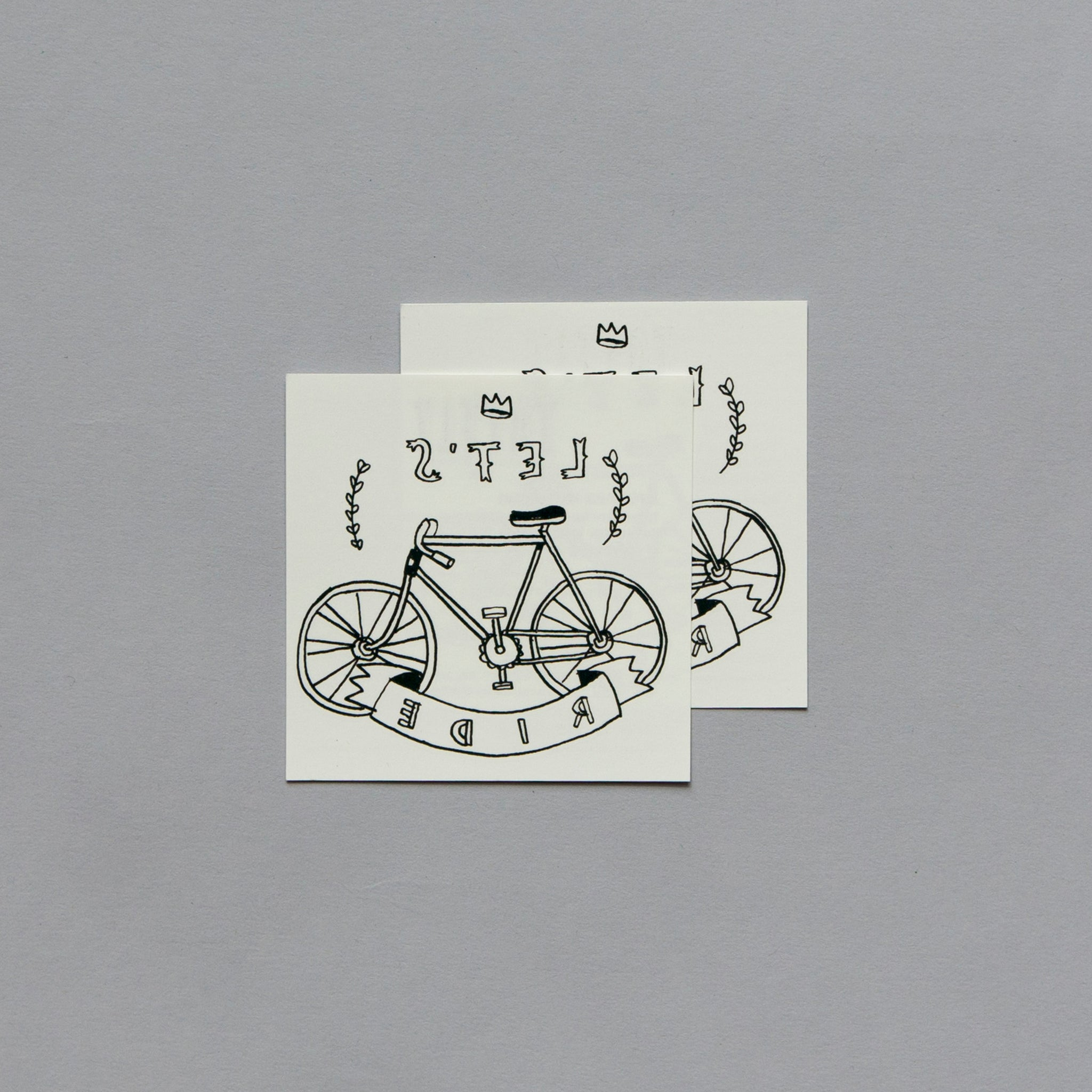 Lets Ride By Mike Lowery From Tattly Temporary Tattoos