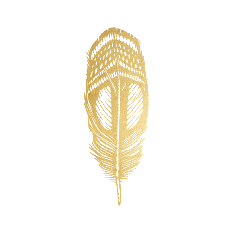 Quail Feather (Gold)