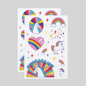Rainbow Unicorns Sheet