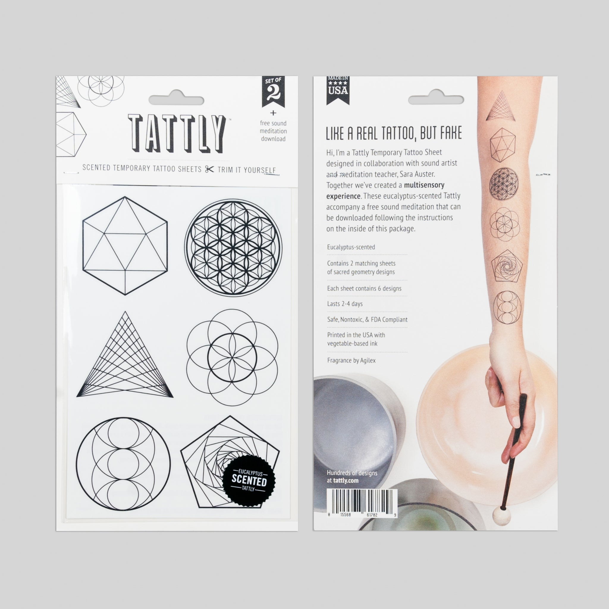 Sacred Geometry Sheet (Scented) by Sara Auster from Tattly Temporary