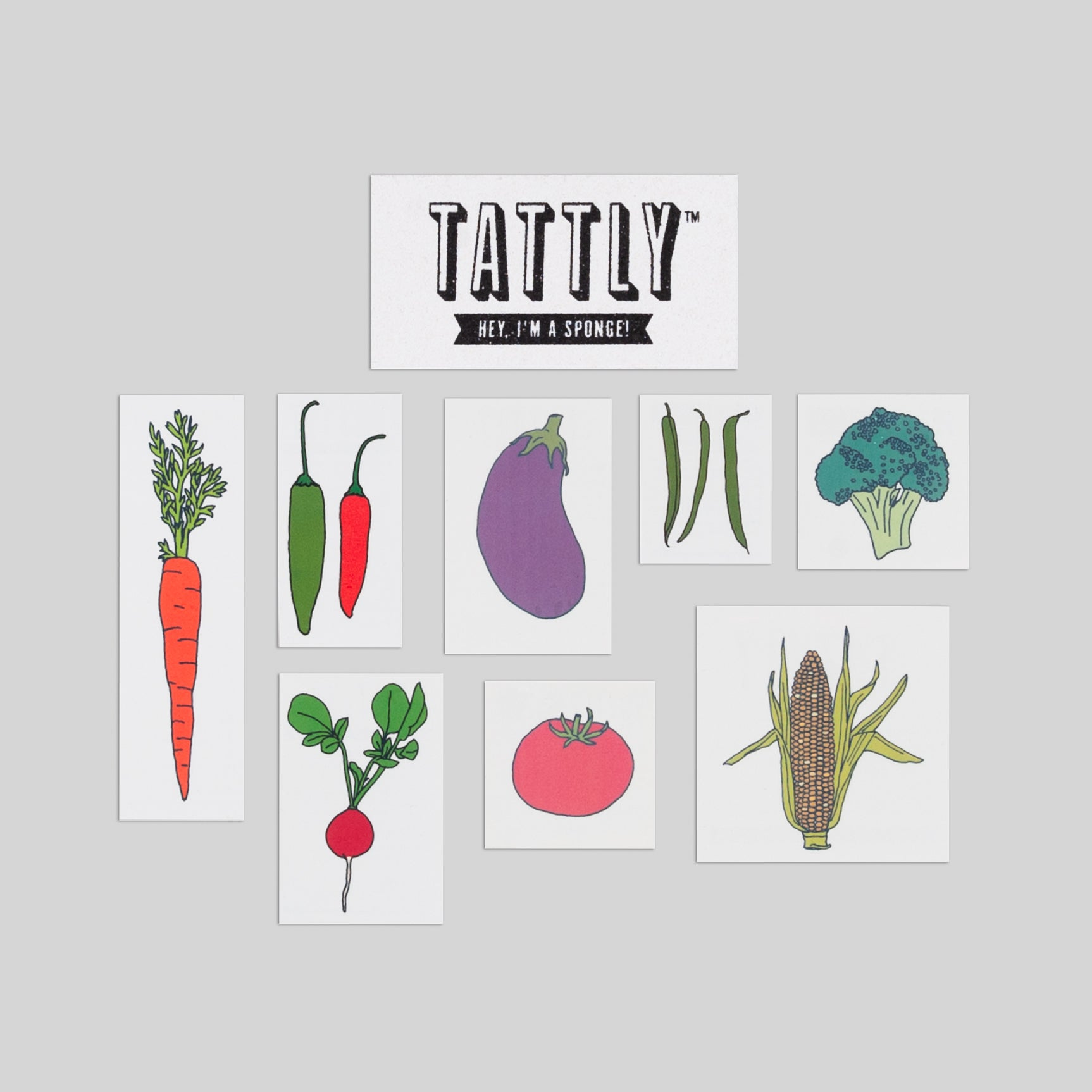 Ve able Set by Julia Rothman from Tattly Temporary Tattoos
