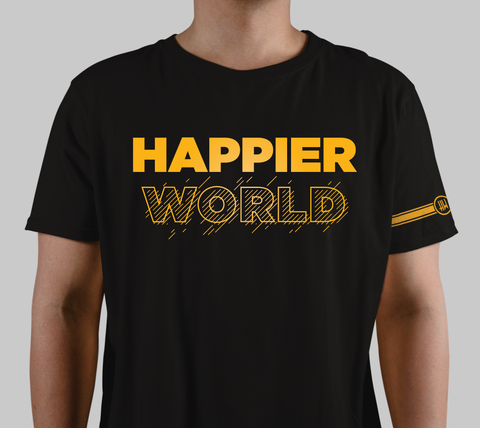 """Happier World"" Graphic Tee"
