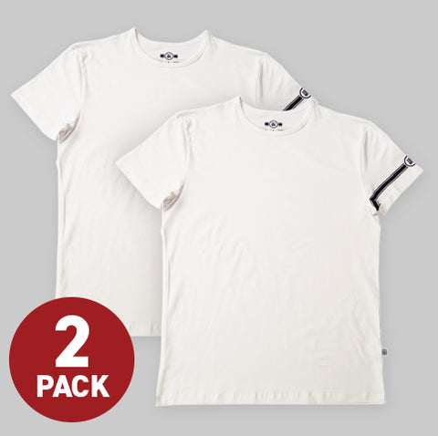 White Fitted Tee (2-Pack)