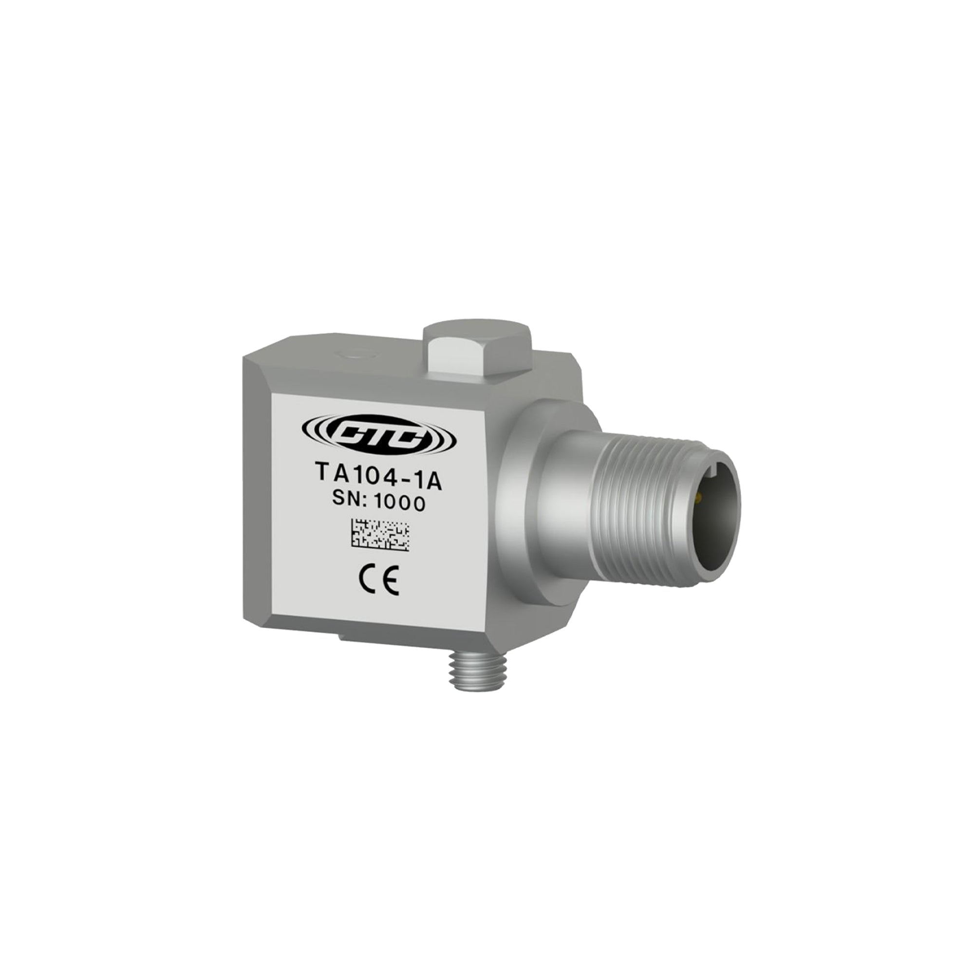 Dual output sensor, temperature/acceleration, 100 mV/g, 10 mV/C, side connector