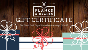 Planks & Dranks Gift Card