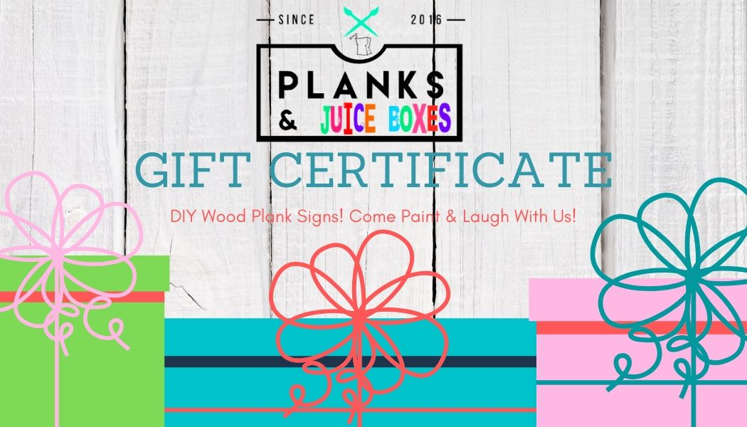 Planks & Juice Boxes Gift Card