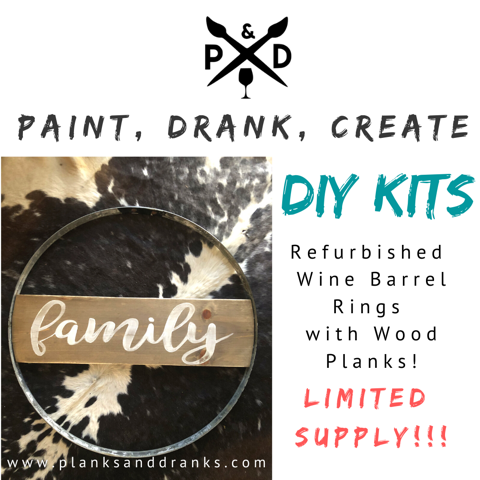Wine Barrel Ring and Plank - Deluxe Kit - Delivery