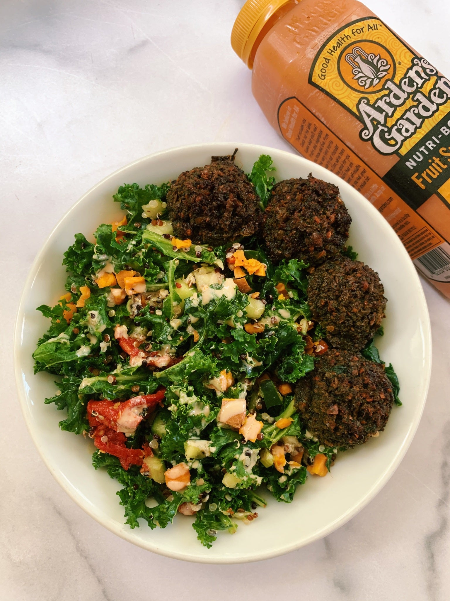 beet root falafel bowl