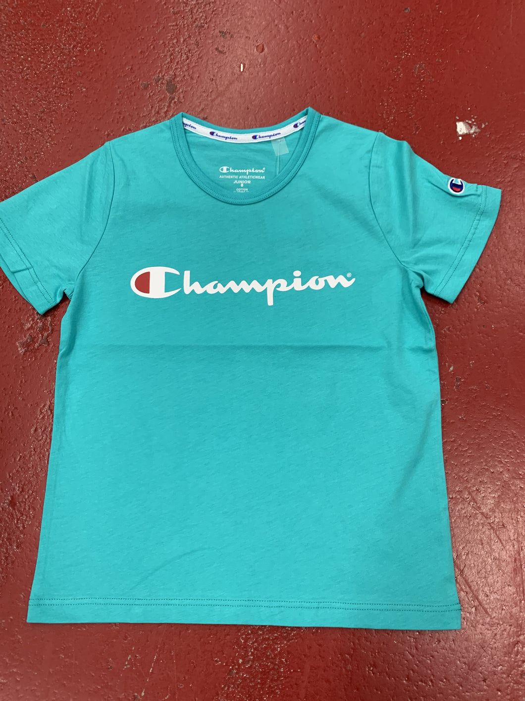 CHAMPION SCRIPT TEE K SEA CREATURE