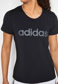ADIDAS D2M BLK/CHARCOAL WOMENS TEE
