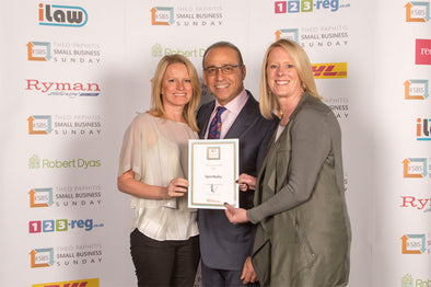Sportbaby receive a Business Award from retail guru Theo Paphitis
