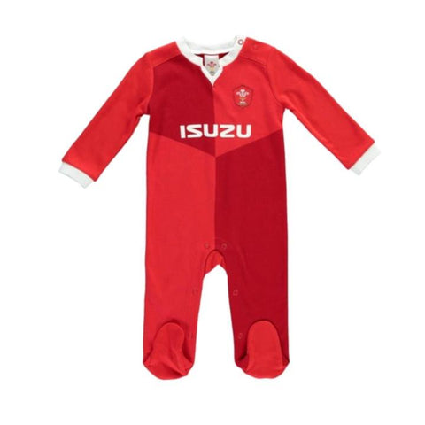 Wales Rugby Baby Sleepsuit