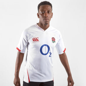 Canterbury England RFU Rugby Home Pro Shirt | White | 2019 | Adult