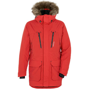 Didriksons Marco Mens Parka | Lava Red