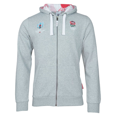 Rugby World Cup 2019 England Men's Full Zip Hoodie | Grey