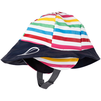 Didriksons Southwest Kids Waterproof Rain Hat | Rainbow Stripe