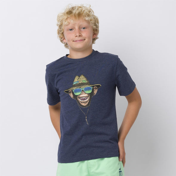 Animal Kids Hang Loose T-shirt | Indigo Blue Marl