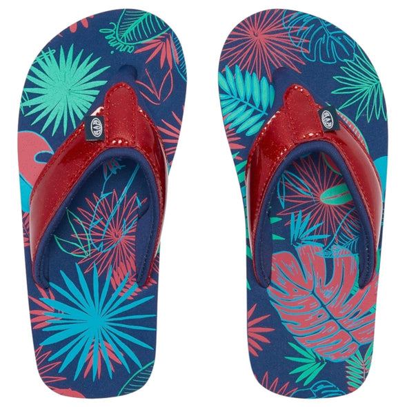 Animal Girls Swish Glitz Flip Flops | Multi