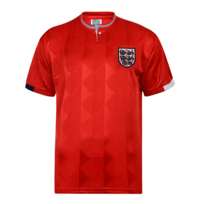 England Football 1989 Retro Away Shirt | Red | Adult