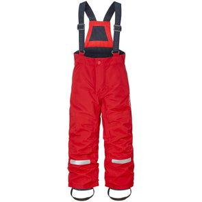 Didriksons Idre 3 Kids Junior Ski Pants Salopettes | Chili Red