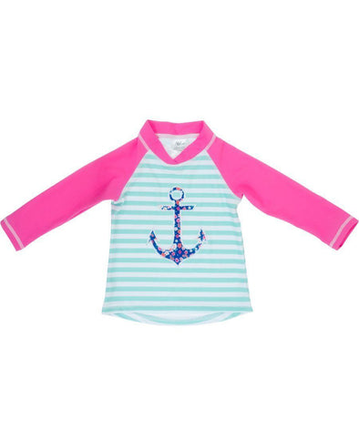 Banz Girls UV Long Sleeved Rash Top | Anchor