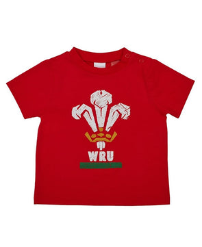 Wales WRU Rugby Baby Crest T-Shirt - 2017/18