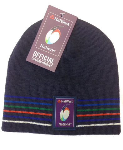 6 Nations Rugby Classic Beanie Hat - Kids